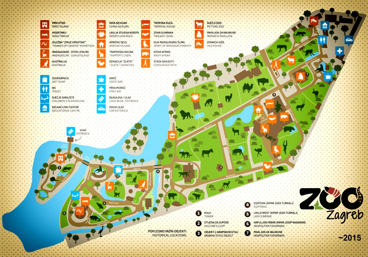 Map Of Zoo Zagreb 2015